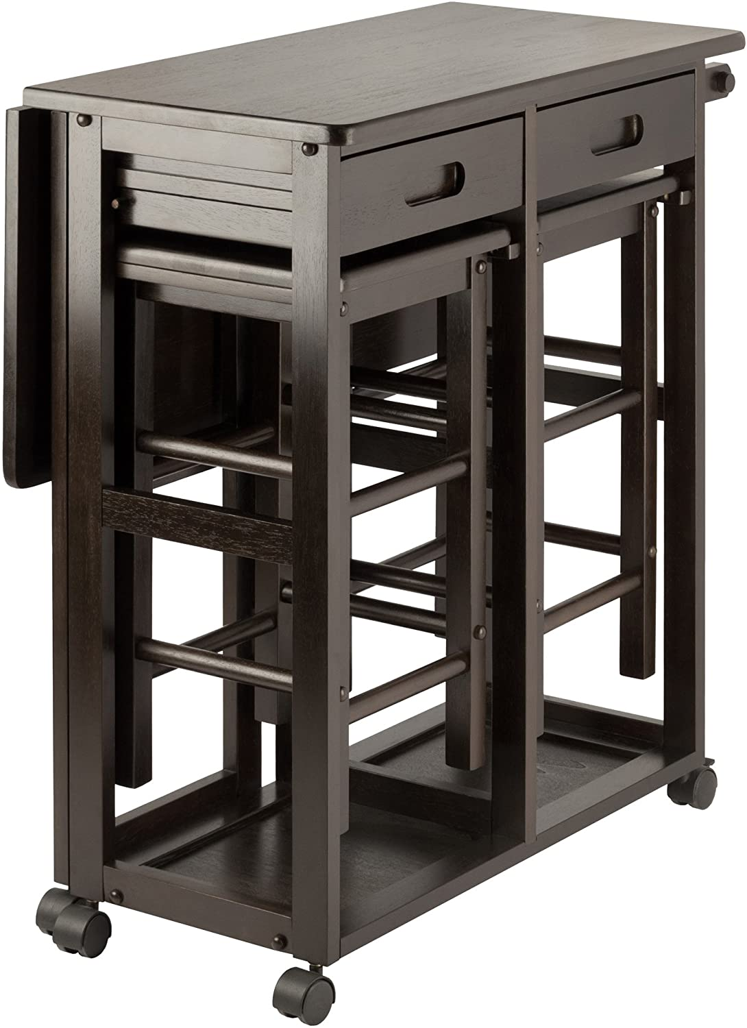 Winsome Suzanne Space Saver Kitchen Coffee Finish