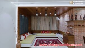 Simple small living room ideas for lighting and colors (3)