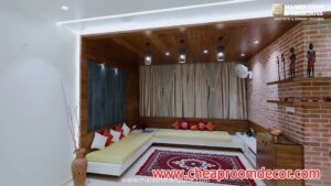 Simple small living room ideas for lighting and colors (4)
