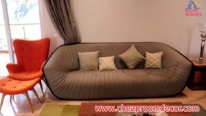Simple small living room ideas for lighting and colors (5)