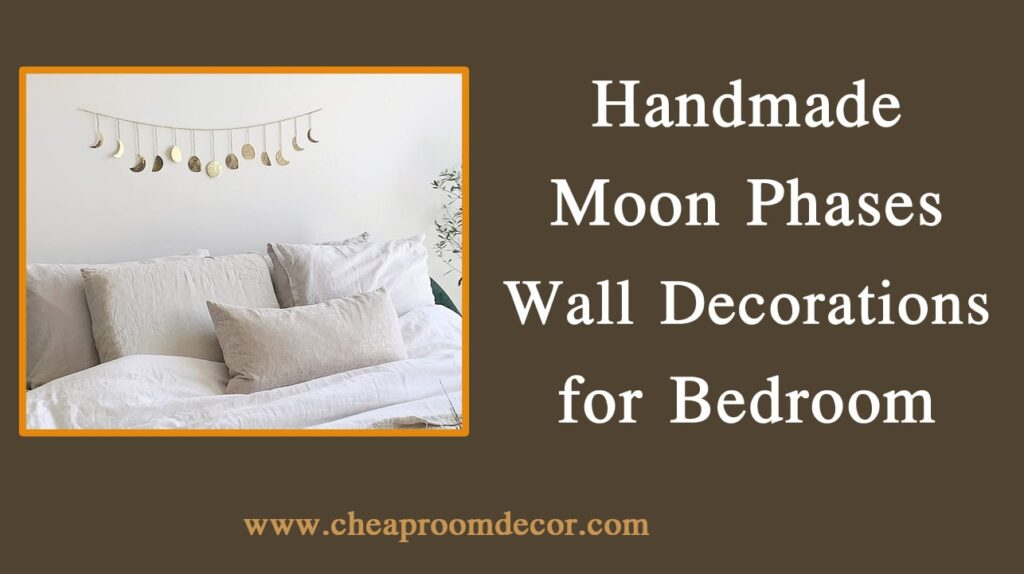 Handmade Moon Phases Wall Decorations for Bedroom Decorative Items For Bedroom Walls