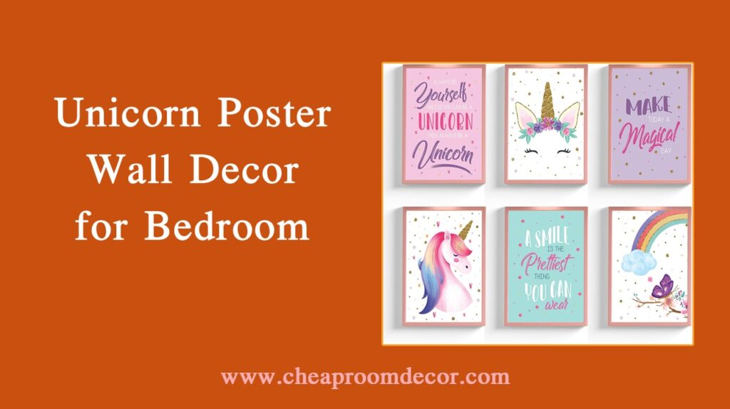 Unicorn Poster Wall Decor for Bedroom Decorative Items For Bedroom Walls