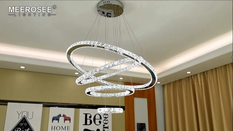 Crystal 4 Ring Chandeliers