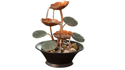 Bits and Pieces – Indoor Water Lily Water Fountain