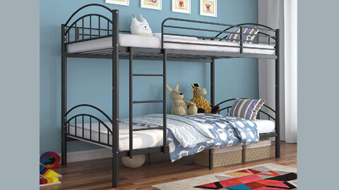 Mecor Twin Over Twin Metal Convertible Bunk Bed