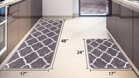 Carvapet 2 Pieces Kitchen Rugs and Mats